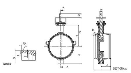 Затворы дисковые приварные серия BFC полнопроходные по ГОСТ