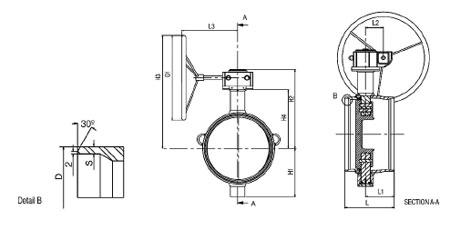 Затворы дисковые приварные серия BFS полнопроходные по ГОСТ