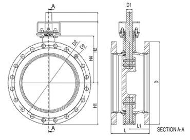 Затворы дисковые фланцевые серия BFC полнопроходные