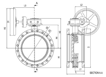 Затворы дисковые фланцевые серия BFS полнопроходные