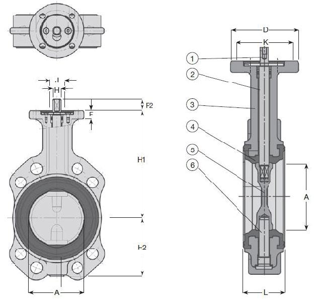 Затворы дисковые межфланцевые концентрические